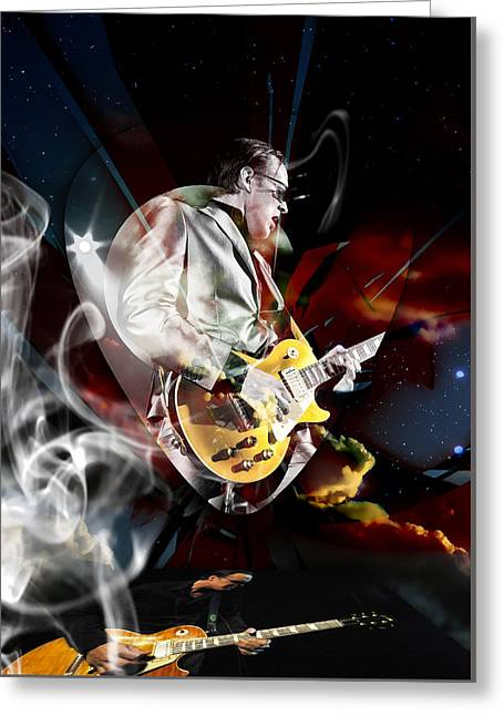 Joe Bonamassa Blue Guitarist Art Greeting Card by Marvin Blaine