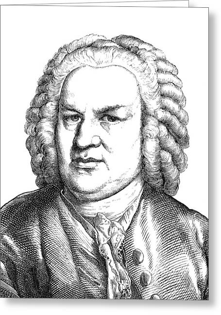 Organist Greeting Cards - Johann Sebastian Bach Greeting Card by Granger