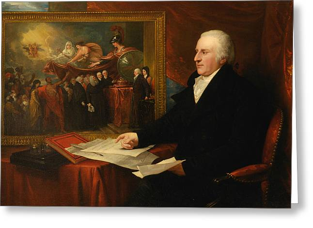 John Eardley Wilmot Greeting Card by Benjamin West