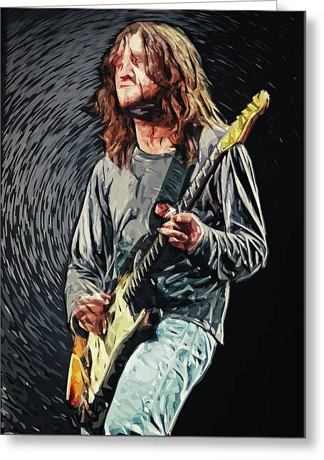 John Frusciante Greeting Card by Taylan Apukovska