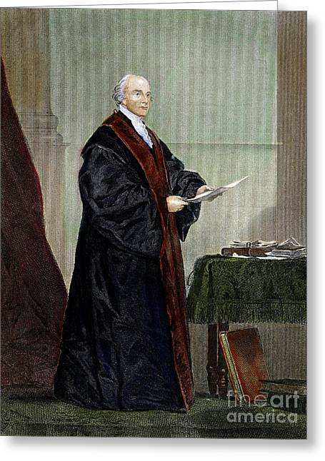 18th Century Greeting Cards - John Jay (1745-1829) Greeting Card by Granger