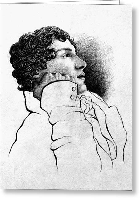 Armitage Greeting Cards - John Keats (1795-1821) Greeting Card by Granger