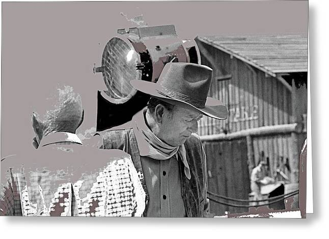 John Wayne And Director Howard Hawks Alienated Rio Lobo Old Tucson Arizona 1970-2016 Greeting Card