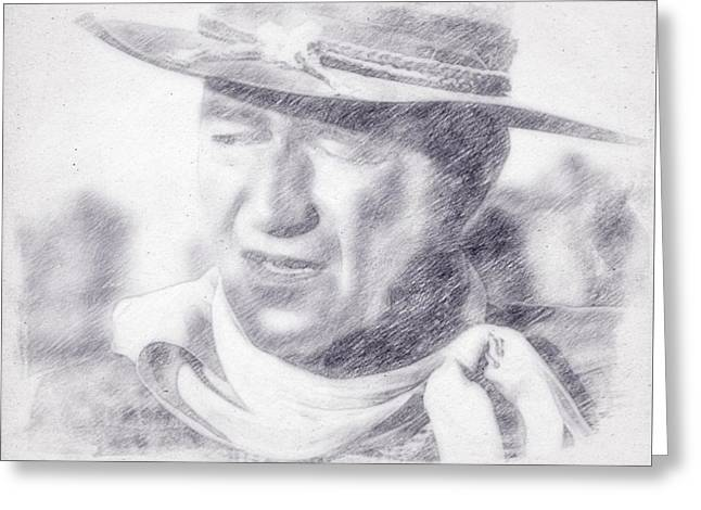 John Wayne By John Springfield Greeting Card by John Springfield