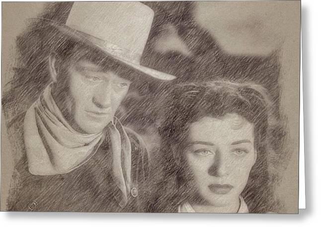 John Wayne Hollywood Actor Greeting Card