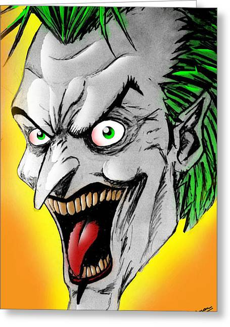 Joker Greeting Card by Salman Ravish