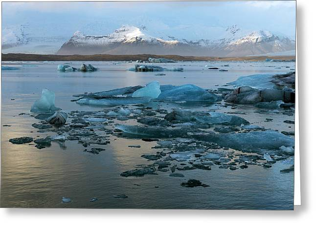 Greeting Card featuring the photograph Jokulsarlon, The Glacier Lagoon, Iceland 5 by Dubi Roman