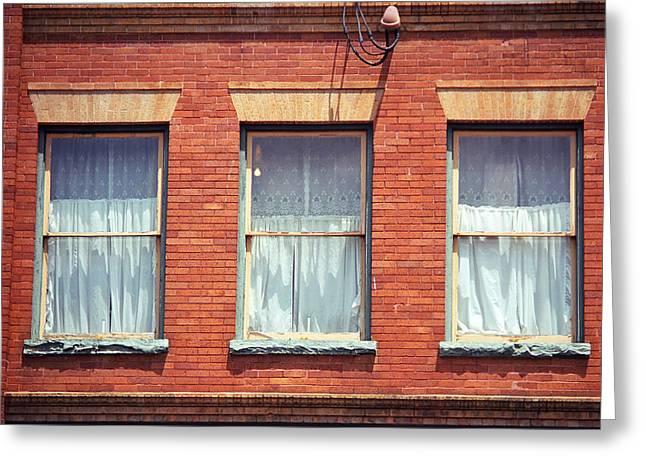 Jonesborough Tennessee Three Windows Greeting Card by Frank Romeo