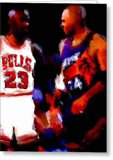 Jordan And Barkley Greeting Card