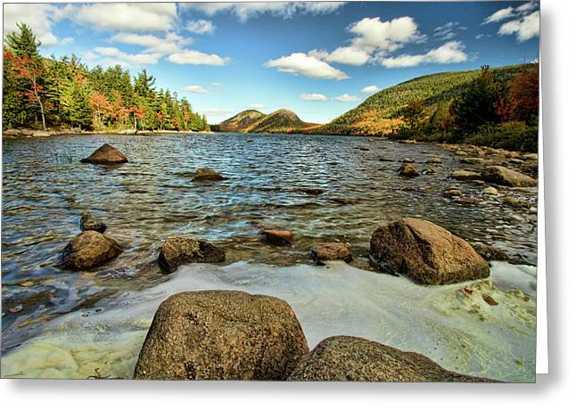 Jordan Pond Greeting Card by Alexander Mendoza