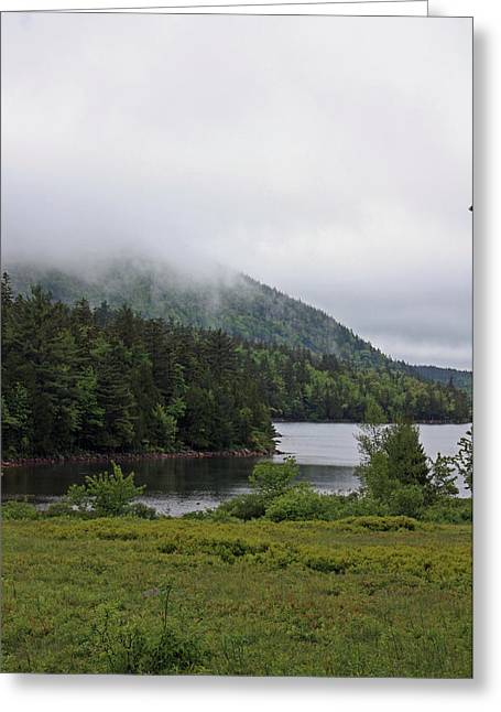 Jordan Pond Greeting Card by Becca Brann