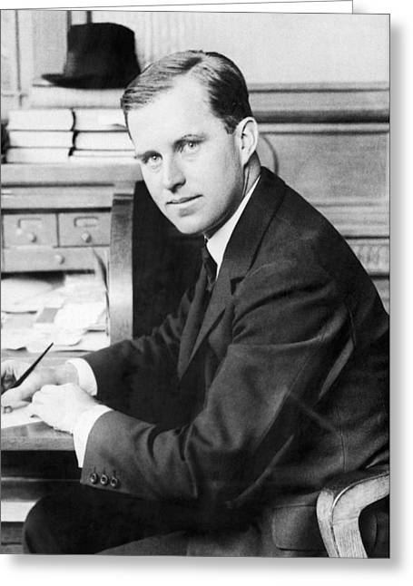 Joseph Kennedy Greeting Card by Underwood Archives