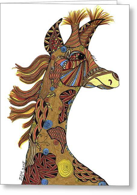 Josi Giraffe Greeting Card