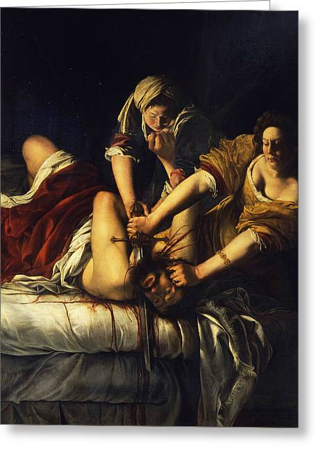 Judith Beheading Holofernes Greeting Card