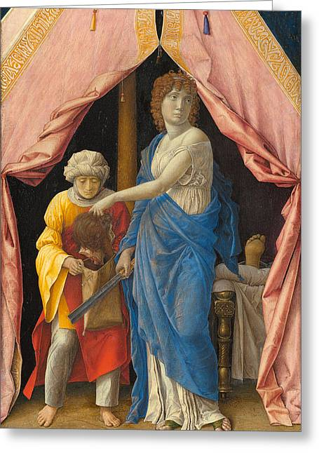Judith With The Head Of Holofernes Greeting Card by Andrea Mantegna