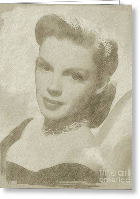 Judy Garland Vintage Hollywood Actress  Greeting Card