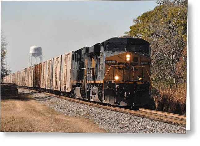 Greeting Card featuring the photograph Juice Train by John Black