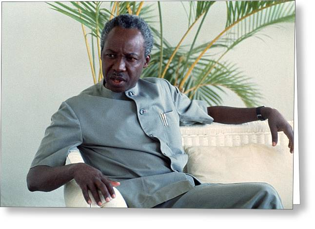 Julius Nyerere Greeting Card by Erik Falkensteen