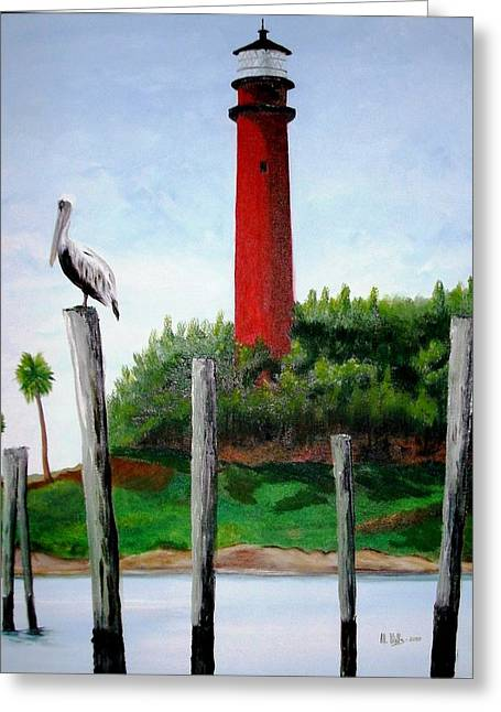 Jupiter Lighthouse Number Two Greeting Card