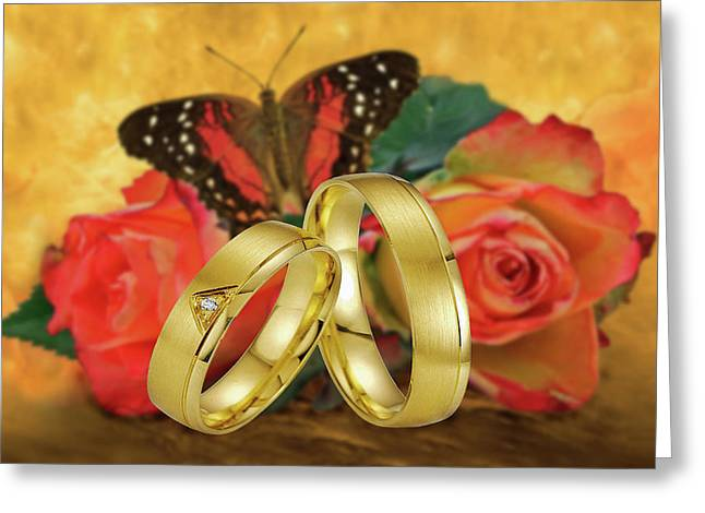 Just Married Greeting Card by Manfred Lutzius