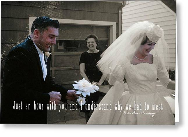 Just Married Quote Greeting Card by JAMART Photography