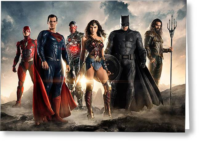 Justice League 2017 Greeting Card