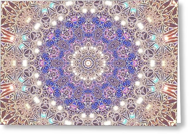 Greeting Card featuring the digital art Jyoti Ahau 8 by Robert Thalmeier