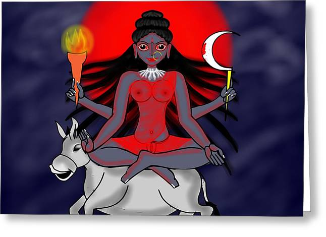 Kaalraatri Greeting Card by Pratyasha Nithin