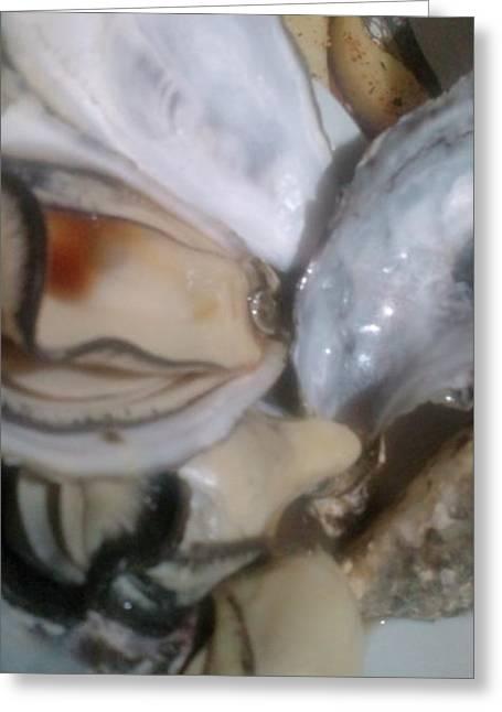 Oysters In Ponzu Vinegar Greeting Card