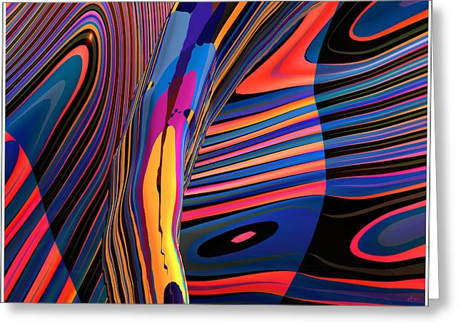 Kaleido-fa-callig. 10x11m37 Wide 11i Greeting Card by Terry Anderson