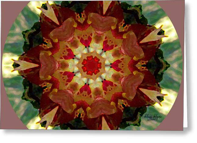 Kaleidoscope - Warm And Cool Colors Greeting Card