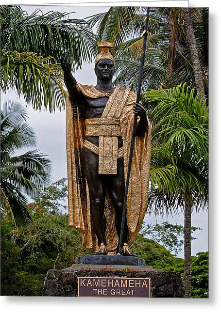 Kamehameha The Great Greeting Card by Christopher Holmes