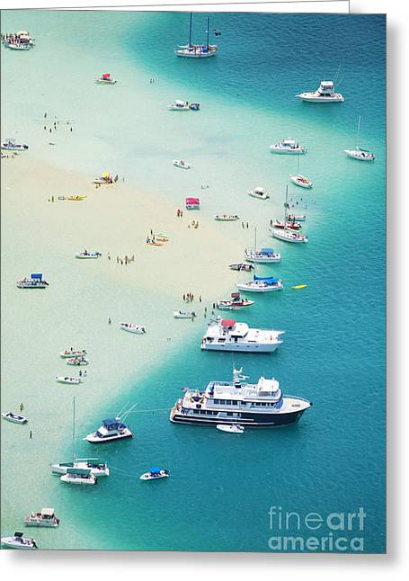 Kaneohe Bay, Boats Greeting Card by Ron Dahlquist - Printscapes