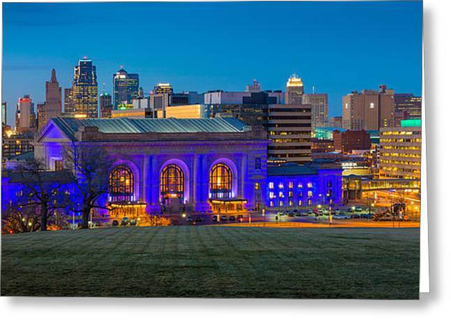 Kansas City Panorama Greeting Card by Inge Johnsson