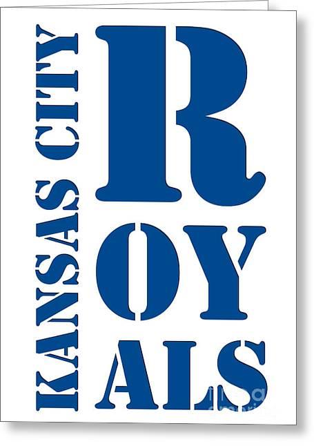 Kansas City Royals Typography Greeting Card by Pablo Franchi