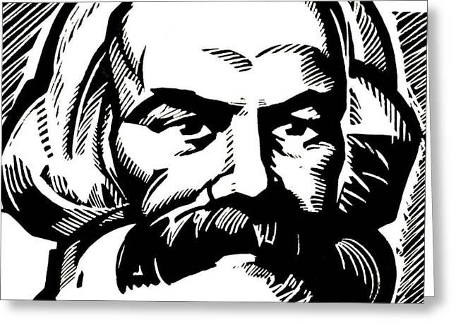 Karl Marx Greeting Card by Russian School