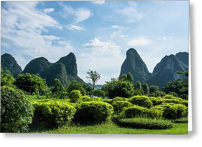 Karst Mountains Scenery Greeting Card