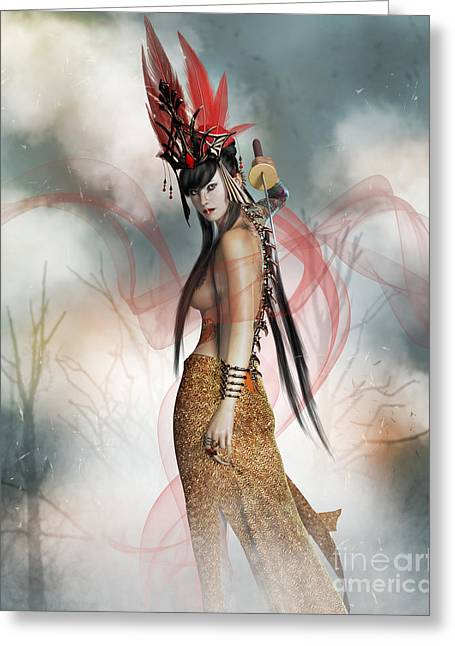 Katana  Greeting Card