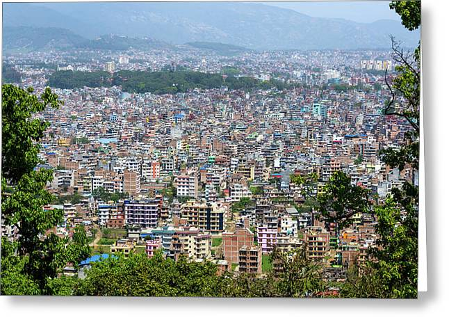 Kathmandu City In Nepal Greeting Card