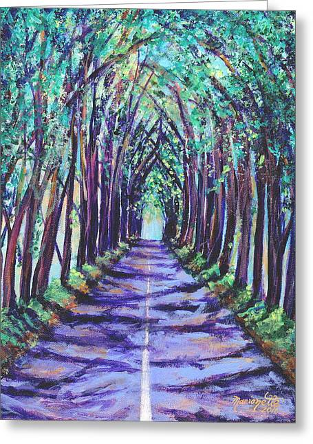 Kauai Tree Tunnel Greeting Card