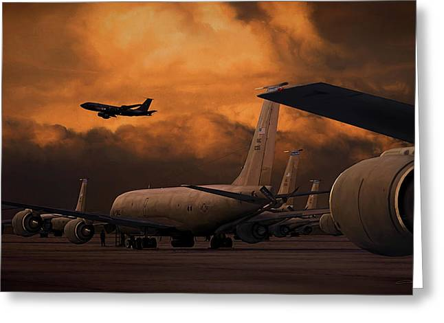 Kc-135 Flightline Greeting Card