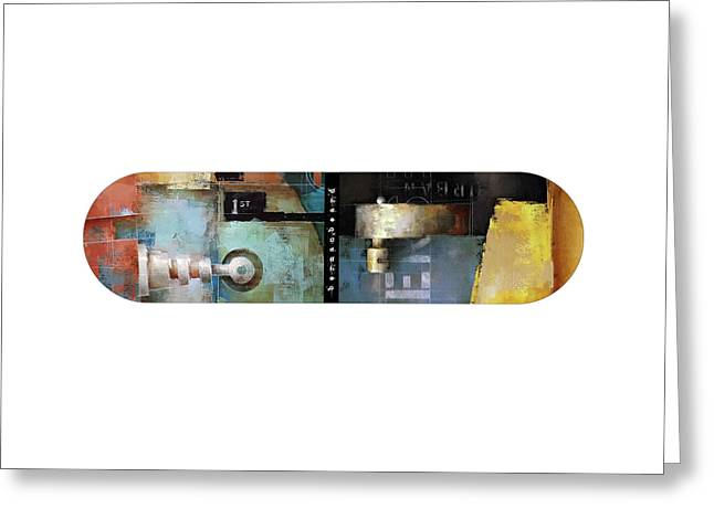 Urban Intersection Skateboard Greeting Card by Ken Berman