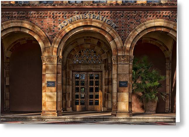 Kendall Hall Administration Building -  Cal State University Chico Greeting Card by Mountain Dreams