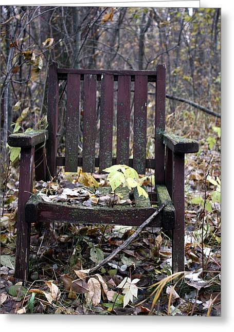 Keven's Chair Greeting Card by Pat Purdy
