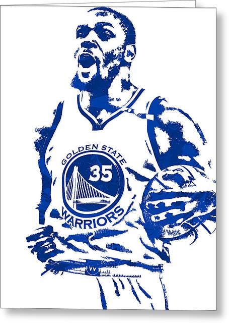 Kevin Durant Golden State Warriors Pixel Art 4 Greeting Card