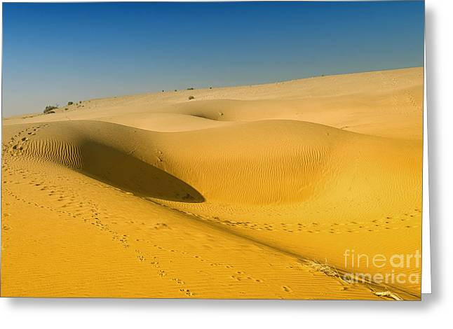 Greeting Card featuring the photograph Khuri Desert by Yew Kwang
