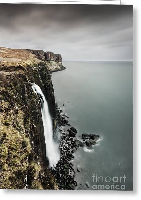 Kilt Rock Waterfall - Isle Of Skye Greeting Card by Rod McLean