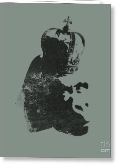 King Ape Greeting Card by Pixel Chimp