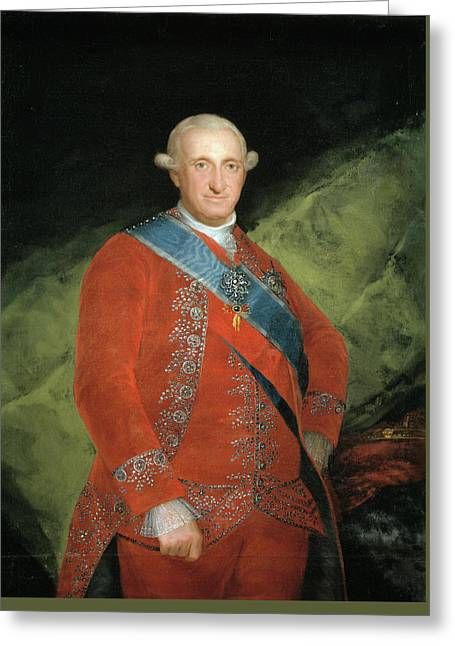 King Carlos Iv In Red Greeting Card