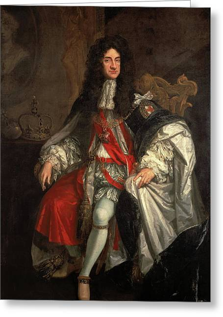 King Charles II Greeting Card by Godfrey Kneller